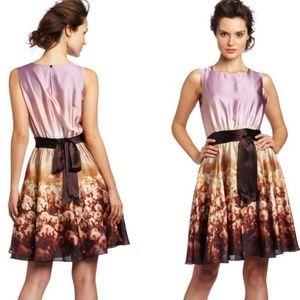 TED BAKER Silky Dandelion Printed Party Dress 6